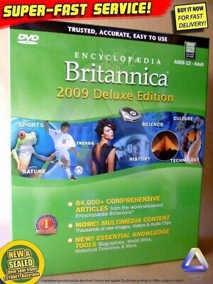 New Britannica DELUXE for PC Windows educational computer software kids toys