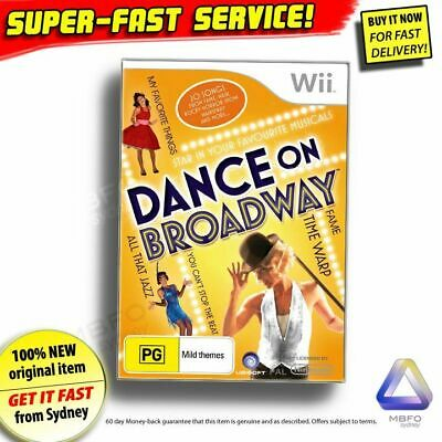 Just Dance Series! Dance On Broadway ✓NEW ✓OZI ✓RARE Nintendo Wii Game