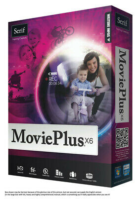 Serif Movie Plus X6 Video Editing (NEW) Full HD, Easy to Use, Windows PC Sofware