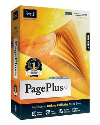 Serif PagePlus X6 NEW Desktop Publishing DTP PDF Editor eBook Design PC Software