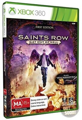 Saints Row Gat Out Of Hell Xbox 360 *NEW *RARE AUSSIE 1st EDITION! FIRST AU PAL