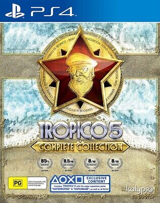 Tropico 5: Complete Collection PS4 (NEW+AU+DLC!) Sony PlayStation 4 game console