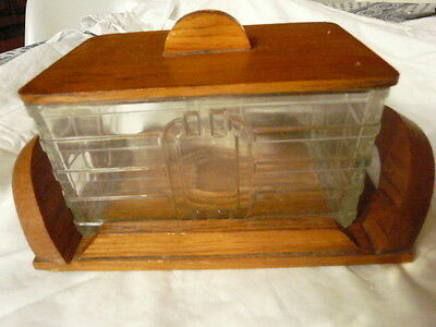ART DECO MACHINE AGE FRENCH BISCUIT BOX COOKIE JAR MIRROR TRAY 1930s