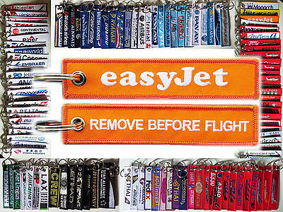 Keyring EASYJET Airline Remove Before Flight keychain for pilot
