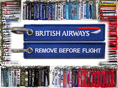 Keyring British Airways BA Remove Before Flight keychain for pilot