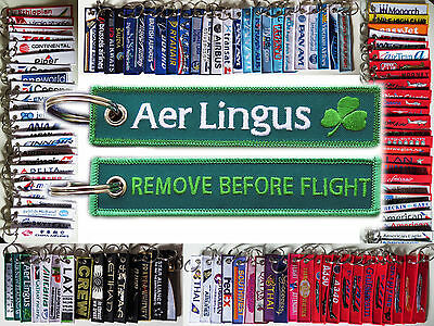 Keyring AER LINGUS Ireland Irish carrier Remove Before Flight keychain for pilot