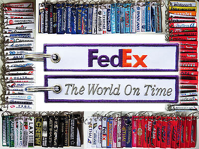 Keyring FEDEX Federal Express courier Remove Before Flight keychain for pilot