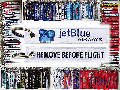 Keyring JETBLUE JET BLUE AIRWAYS Remove Before Flight keychain for pilot