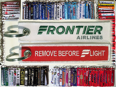 Keyring FRONTIER AIRLINES Remove Before Flight keychain a whole different animal