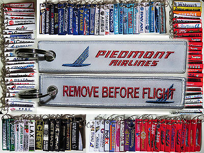 Keyring PIEDMONT AIRLINES Remove Before Flight keychain for pilot