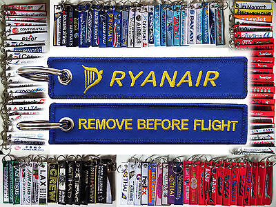 Keyring RYANAIR Remove Before Flight keychain for pilot