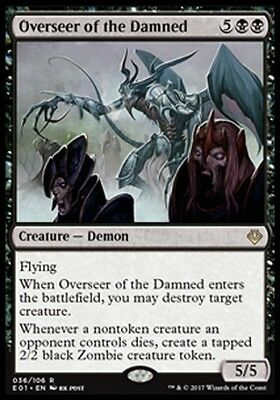 MTG Overseer of the Damned [English, Archenemy: Nicol Bolas, Free P&P]