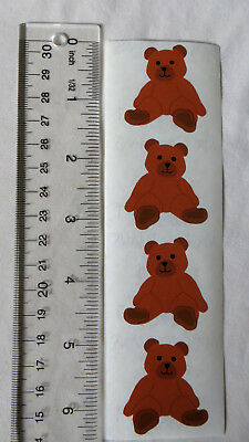 Mrs Grossman BROWN BEAR - VINTAGE Strip of DISCONTINUED Stickers