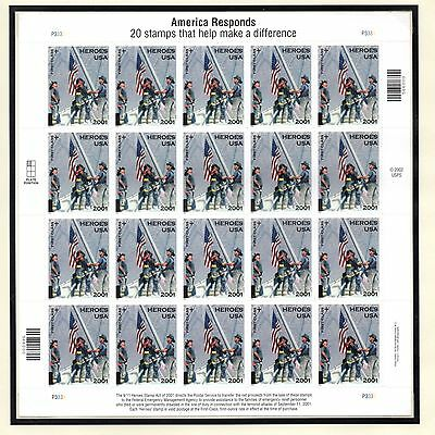 #B-2 America Responds (3) sheets of 20 mint nh stamps