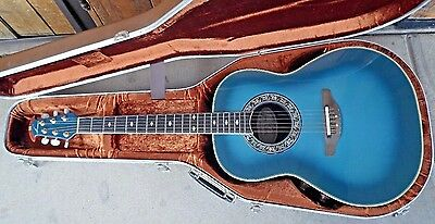 Ovation 1982-8 Blue Burst Collectors Edition Guitar Serial Number 1445