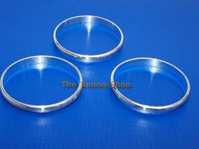 For MG TF MGTF 01-09 Chrome Rings For Heater Oil & Clock Gauges Surrounds 5 pcs