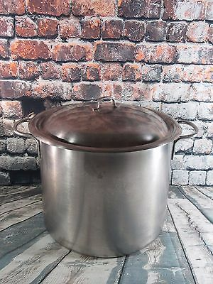 Vintage Vollrath 12.5 QT Stainless Steel Ware Stock Pot with Domed Lid