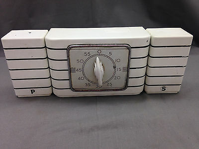 Classic Art Deco Lux Clock Co Kitchen Timer & Salt & Pepper Range Set