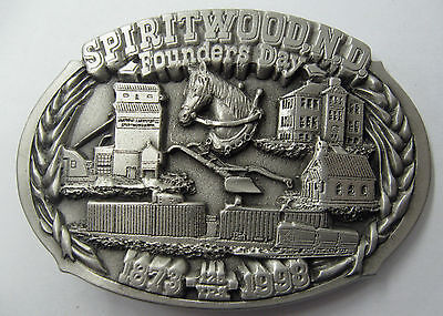 Spiritwood, ND FOUNDERS DAY 125 Years Limited Edition Belt Buckle No. 203 of 250