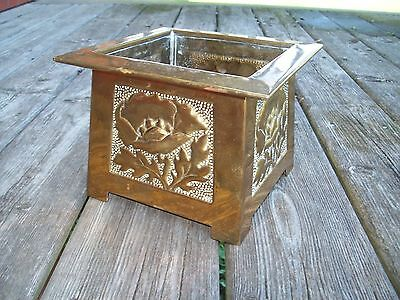 Antique Arts and Crafts / Mission Style Brass Jardiniere Glasgow School