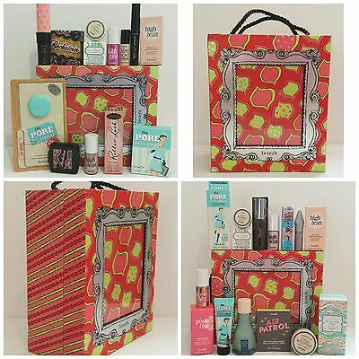 Benefit 10 piece Set/Kit: High Beam,Posie/LolliBalm,Pore,Gimme Brow - AUTHENTIC