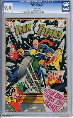Teen Titans   #15   CGC   9.4   NM    white pages