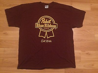 Pabst Blue Ribbon T Shirt Mens Xxl 2Xl Burgundy Gold Washington Redskins Beer