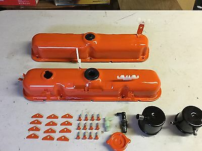MOPAR, Dodge, Plymouth, 1970  340  Six-Pack Valve Covers