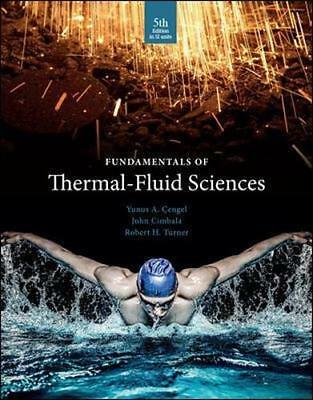 NEW Fundamentals Of Thermal Fluid Sciences By Cengel Paperback Free Shipping