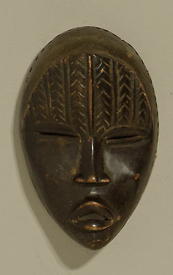Africa Dan Mask Carved Wood Ivory Coast Spirit Dan Mask