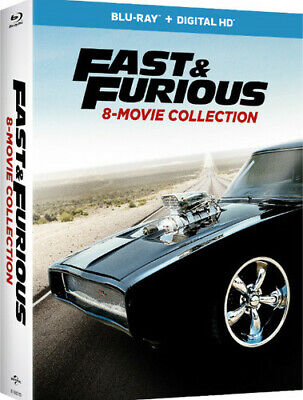 Fast & Furious: 8-Movie Collection [New Blu-ray] Boxed Set, UV/HD Digital Copy