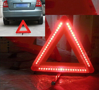 LED light Car Warning Triangle Emergency Safety Reflective Sign Road Roadside W/