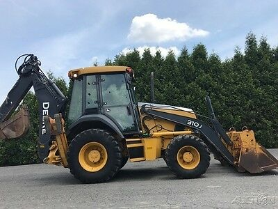 2009 John Deere 310J Backhoe Loader Extend-a-hoe 4-in-1 Diesel Cab Tractor JD310