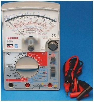 CX506A Analogue Multimeter 0.3A dc 1000 Vdc, 750 Vac Sanwa Electric - New in Box