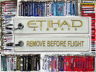 Keyring ETIHAD AIRLINES *PEARL* Remove Before Flight keychain for pilot aircrew