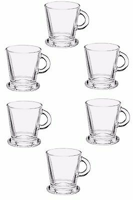 Clear Glass Espresso Coffee Cups, Capacity 80ml, Set of 6