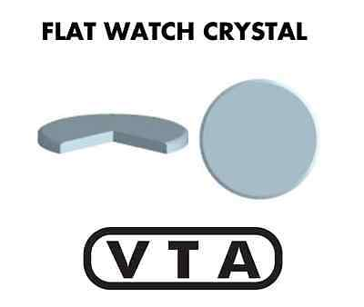 VTA *FLAT* Mineral CRYSTAL 30.00mm Dia x 1.2mm Thick GLASS for Watches