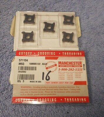 Manchester    Carbide  Inserts     571194     Grade  M93    Pack Of 5