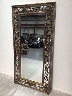 Antique Design Gilt Frame Over mantle Mirror 6ft X 3ft Ideal Shop Mirror Salon