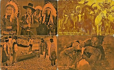 American Indians Collector's Set of 4 Arcade Cards, Redman series