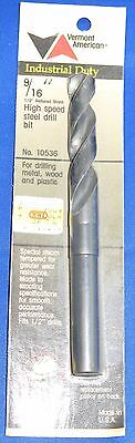 """Vermont American 9/16"""" High Speed Drill Bit 1/2"""" Reduced Shank Industrial Duty"""