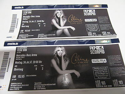 Celine dion 2 tickets berlin mercedes benz for Mercedes benz tickets