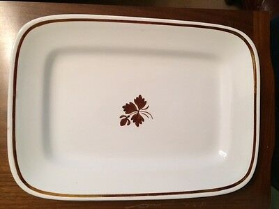 Alfred Meakin Tea Leaf Royal Ironstone Rectangular Platter. 8 3/4 x 12 Vintage
