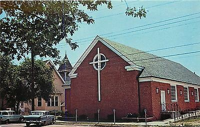 Rehoboth Beach Delaware~Epworth Methodist~Neighboring Church~1950s Postcard