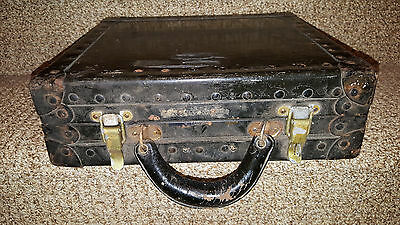 Vintage Bell System Telephone Steampunk Metal Industrial Case Black R 3481