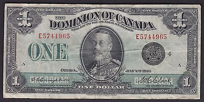 1923 Dominion of Canada $1 - King George Cat# DC-25o