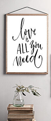 Love Is  Inspirational/motivational Quote ..a4 Poster/print Decor Gift