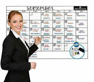 Whiteboard Monthly Calendar Planner Jumbo Erasable Room Office Dry Erase Board