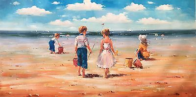 Bondi Beach,Original Oil Painting by N. Knox,   122 x 61 cm