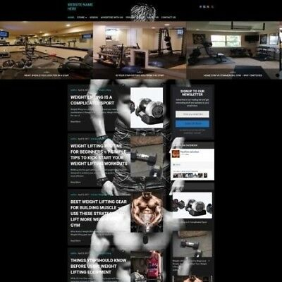 BODYBUILDING STORE - Established Online Business Website For Sale Mobile +++++++